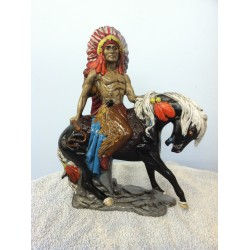 mounted-indian-with-war-bonnet