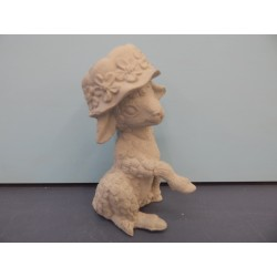 sheep-with-bonnet-sitting