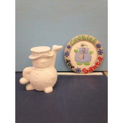 Snowman with Plate 2 pieces (SNO-12)