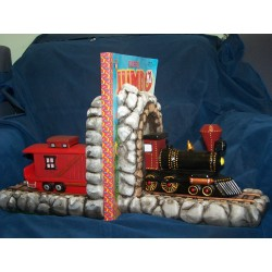 Train Tunnel Bookends SET OF 4 (TRA-2)