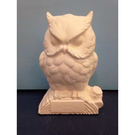 Bird Owl Bank Be Wise Save