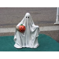 Ghost Holding Pumpkin Large