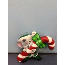 Mouse Holding Candy Cane