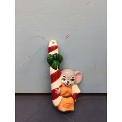 Mouse on Candy Cane