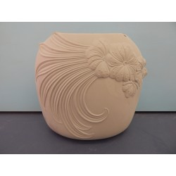 Flower Swirl Pillow Vase (PLA-93)