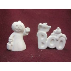Ghost Boo Pumpkin Head and TorT -(set of 2)