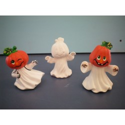 Ghost with Pumpkin Head (set of 3)