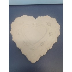 Heart Lace Plaque with Flowers